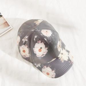 China Snapback Women Floral Pattern Sublimation Baseball Cap wholesale