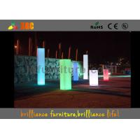 China Square PE Led Wedding Pillar Wireless Remote Control For Christmas Decorations wholesale