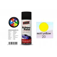 China Higher Adhesive Removable Rubber Spray Paint , Matt Yellow Color Auto Spray Paint wholesale