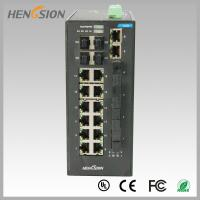 China Fast 28 Port Switch , Fanless Gigabit Switch 14 electric port + 4 FX +4 Gigabit SFP FX Fiber optical wholesale