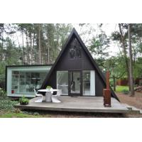China Prefabricated House Kits , One Floor Modern Light Steel Frame Bungalow, Holiday resort triangle house, mobile house on sale