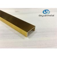 China 6063 6060 6463 T5 T6 T66 Aluminium Edge Trim / Aluminum Carpet Trim With Polishing wholesale