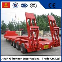 China 40T 4 Axle Flat Low Bed Semi Trailer / Lowboy Semi Trailer CCC Certification wholesale