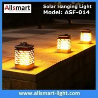 China 75LED Solar Lights Outdoor LED Flickering Flame Torch Light Solar Powered Lantern Hanging Decorative Pathway Garden Lamp wholesale