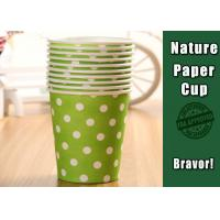 China Eco Friendly Hot Liquid Paper Cups , PE Coated Thermal Paper Cups Dot Pattern wholesale