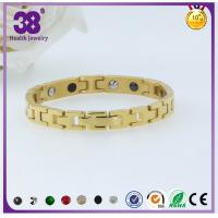 China 2016 Fashion Gold Jewellery 316L Stainless Steel Magnetic Pendant Bracelet wholesale