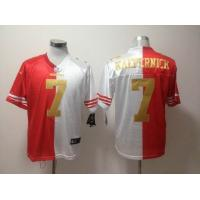 China NFL San Francisco 49ers 7 Kaepernick half red half white Jersey wholesale