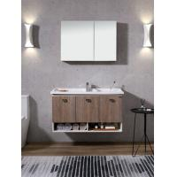 China Wall Hung Marble Top PVC Bathroom Vanity Antique Wooden Bathroom Furniture wholesale