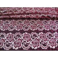 China Wavy Floral Elastic Lace Fabric Eco-friendly Dyeing For Evening Dress CY-DK0037 wholesale