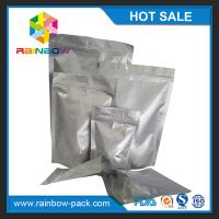 China Custom sized aluminum foil stand up ziplock bag for food/ snack storage wholesale