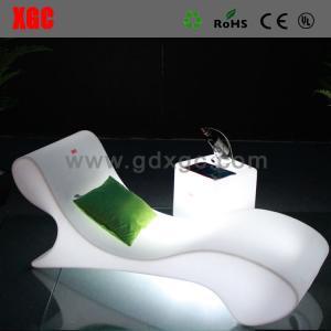 China Swimming Pool Illuminated White Plastic Outdoor Led Beach Lounge Chair wholesale