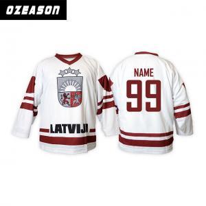 China Custom Anti-Shrink Digital Sublimation Quick Dry Ice Hockey Uniforms wholesale