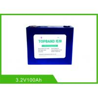 China 100Ah 3.2V Lifepo4 Lithium Rechargeable Battery Cell Long Warranty Low Self Discharge Rate wholesale