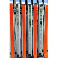 Quality Aluminium Manual Safety Accordion Barrier Gate With Reflective Strickers for sale