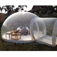 China Outdoor Inflatable Bubble Tent with Single Tunnel for camping wholesale