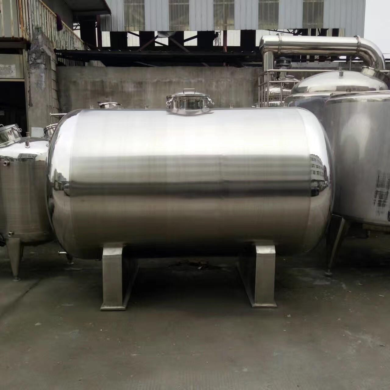 China 20000L Big Volume Horizontal Type 304 Stainless steel Storage Tank For Milk Palm Oil Etc Liquid on sale