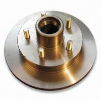 China Soaring 10 Inches Hub and Rotor Assembly, 5 on 4-1/2 Inches Bolt, Silver Cadmium Finish, 3,500lb wholesale