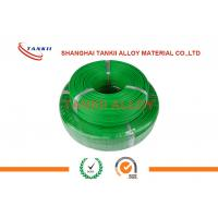 China 0.2mm Extension Thermocouple Cable  Solid Conductor With Teflon Insulation Green Color wholesale