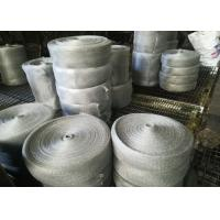 China Multifilament Engineering Stainless Steel Knitted Mesh For Shielding / Filtering wholesale