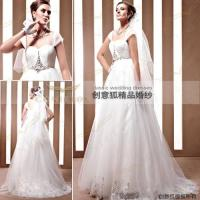 China floor length wedding dresses with wide spaghetti straps 90026 wholesale