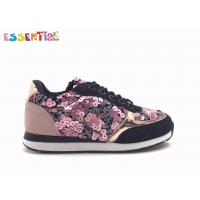 China Customized Youth Casual Shoes Lace Up Sequins Imitation Suede Material wholesale