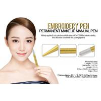 China Anti Slip Yellow Eyebrow Manual Tattoo Pen For Makeup Microblading wholesale