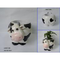 China Polyresin animal flower vases, cow vase wholesale