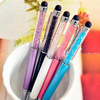 China Creative Crystal Stylus Touch Pen Refill 0.7 Mm With Silk Printing Logo wholesale