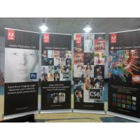 China Trade Show Retractable Display Banners , Table Top Retractable Banners 80*200cm wholesale