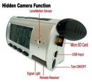 China Home Security Mini Alarm Clock DVR Spy Hidden Surveillance Camera Audio Video Recorder wholesale