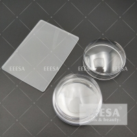Buy cheap Clear 3.5Cm With Stamping Plate Scraper Nail Polish Stamper Set from wholesalers
