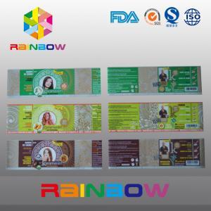China Custom Waterproof Printed PVC / PET Heat Shrink Sleeve Labels / Plastic Bottle Label wholesale