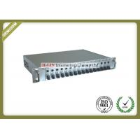 China 19 Inch 2U Rackmount Managed Media Converter Chassis Support SNMP TELNET 5 wholesale
