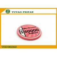 China Vivid Pink Scroll Ceramic Poker Chips Heavy European Poker Chips wholesale