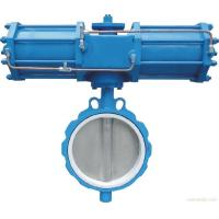 Quality API598 Pneumatic Flanged Butterfly Valve , DN40-1200 Soft Sealing Butterfly Valve for sale