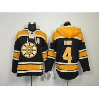 China NHL Boston Bruins 4 Bobby Orr Black Hoodies Jersey Old Time Hockey wholesale