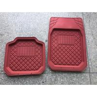 China PVC material good quality hot sell red car foot mat for all car use wholesale