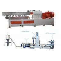 Buy cheap PP Caco3 Double Screw Extruder Granulation Machine Water Ring Cutting System from wholesalers