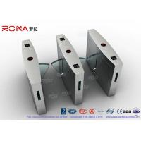 China Retractable Flap Barrier Turnstile Durable Anti Pinch Function Time Attendance System wholesale