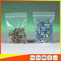 China Clear Packing Ziplock Bags For Hardware Packaging , Plastic Bag With Zipper wholesale