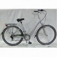 China City Bicycle with Aluminum Frame, Suspension Fork, Disc Brakes, Thicken and Puncture-resistant Tires wholesale