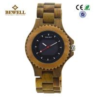 China All Natural Green Sandalwood Solar Men Wooden Watches , Handcrafted Wooden Men Watches wholesale