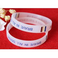 China Half Transparent Rubber Wrist Bracelets 180mm Perimeter Embossed Technique wholesale