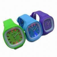 China Glowing Silicone Wrist Watches, LED Watch Dial, OEM Orders and Designs Welcomed wholesale