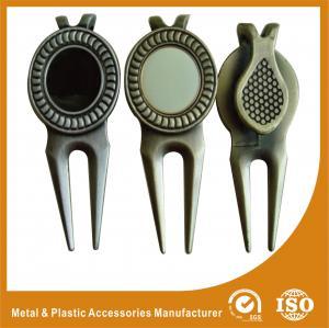 China 2D / 3D Zinc Alloy Antique Metal Golf Ball Markers Pantone Color Chart wholesale