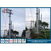 China Anti - Rust Transmission Line Electrical Power Pole With Bitumen Painted wholesale