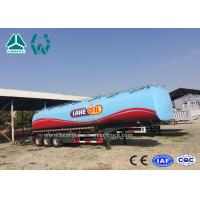 China Carbon Steel Tri - Axle Semi Trailer For Fuel Transport 30000 To 60000 Liters wholesale