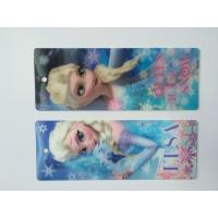 China 3D Hologram Frozen 3D Lenticular Custom Plastic Bookmarks With Tassel For 0.6 mm PET Thickness wholesale