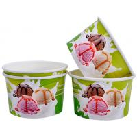 China Single Wall Frozen Yogurt Paper Cups , Paper Ice Cream Pint Containers wholesale