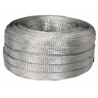 Buy cheap Electrical / Industrial Tinned Copper Braided Sleeving , Flat Cable Shielding from wholesalers